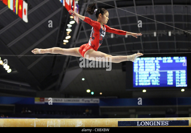 Yu Minobe (JPN) performs during the FIG World Artistic Gymnastics Championships Tokyo 2011. - Stock Image