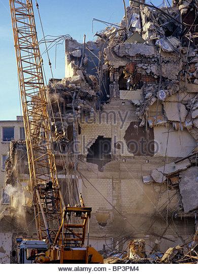 Wrecking Ball Building : Demolition wrecking stock photos