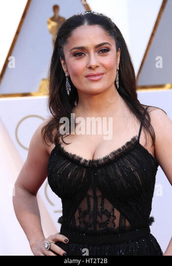Hollywood, CA, USA. 26th Feb, 2017. 26 February 2017 - Hollywood, California - Salma Hayek. 89th Annual Academy - Stock Image