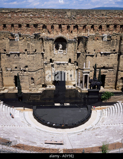 Roman amphitheatre Orange UNESCO World Heritage Site Vaucluse Provence France Europe - Stock Image