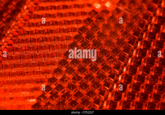 bright red abstract textural pattern, Fragment of cataphot - Stock Image