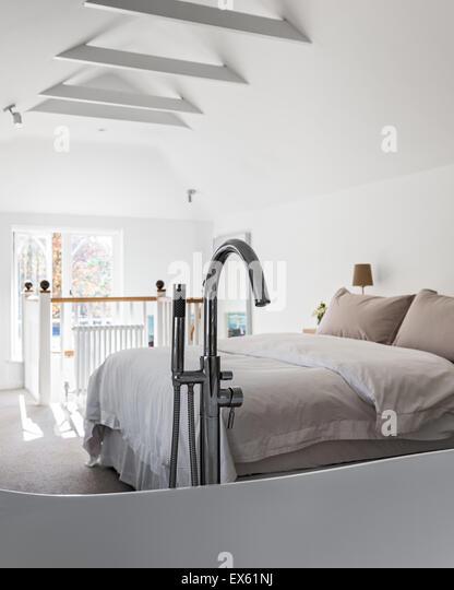 mezzanine bedroom stock photos mezzanine bedroom stock. Black Bedroom Furniture Sets. Home Design Ideas