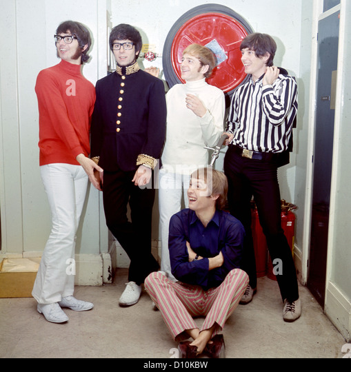 MANFRED MANN  UK pop group in 1966. See Description below for names. Photo Tony Gale - Stock Image