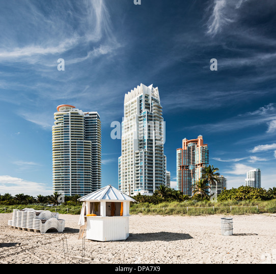 Miami Beach high rise apartments - Stock Image