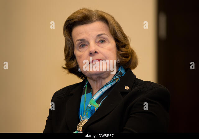 Washington DC, USA. 27th Feb, 2014. US American senator Dianne Feinstein in Washington DC, USA, 27 February 2014. - Stock Image