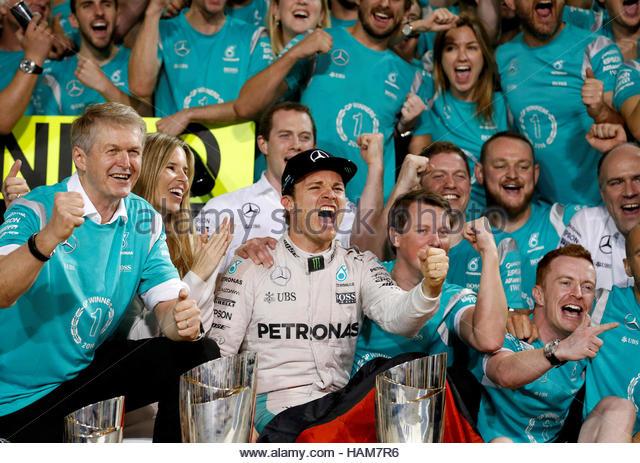 Formula One - F1 - Abu Dhabi Grand Prix - Yas Marina Circuit, Abu Dhabi, United Arab Emirates - 27/11/2016 - Mercedes' - Stock-Bilder
