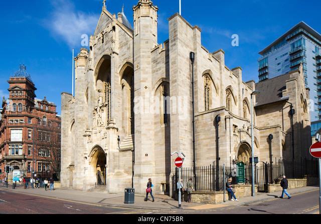 Leeds Roman Catholic Cathedral (Saint Anne's Cathedral), Leeds, West Yorkshire, England - Stock-Bilder