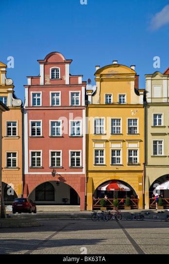 Twon square in Jelenia Gora, Poland - Stock Image