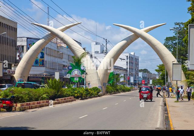 Tusks, Moi Avenue, Mombasa, Kenya - Stock Image