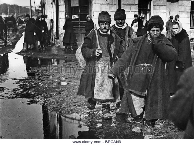 Peasants in Moscow, 1930s - Stock Image
