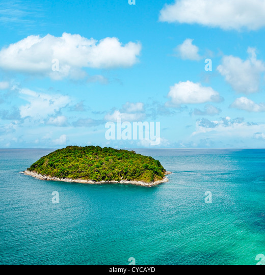 View of the tropical island. Square composition. - Stock Image