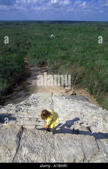 mexico coba pyramid nohoch mul - Stock Image