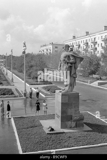 A monument to the Unknown Sailor in Novorossiisk - Stock Image