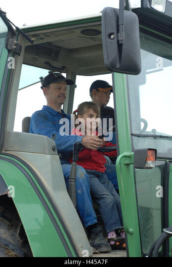 Tractor Going Right On Man : Model tractor stock photos images