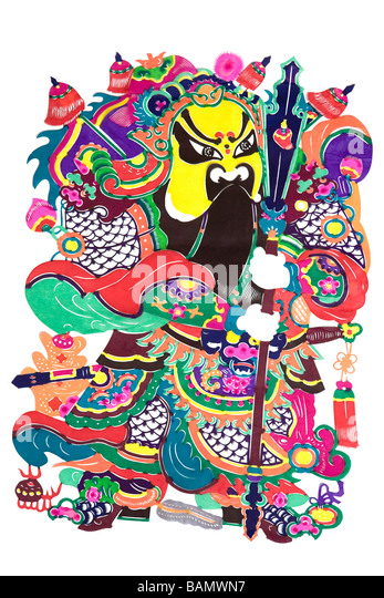 Traditional Chinese Illustration - Stock Image