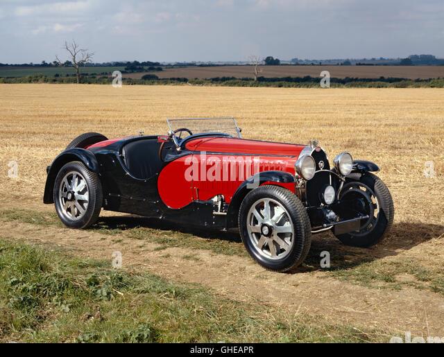 1932 Bugatti Type 55 Super Sport Roadster Modifie 2 27 litre Inline 8 DOHC engine Country of origin France - Stock Image