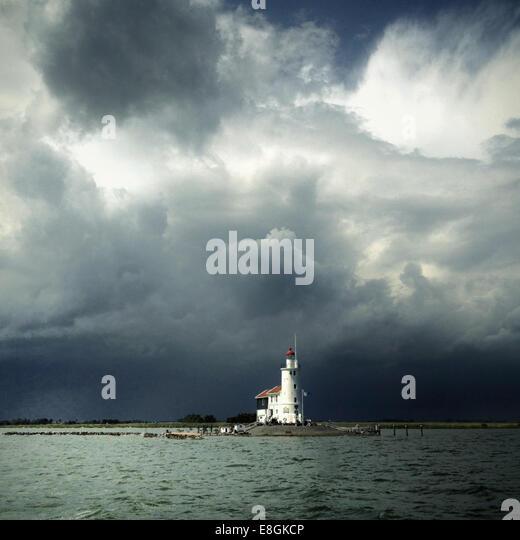 Nederland, Marken, Paard van Marken Lighthouse - Stock Image