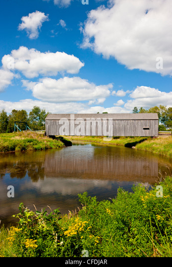 The Hasty Bridge (officially Petitcodiac River #3 Covered Bridge) River Glade, Westmorland County, New Brunswick, - Stock Image