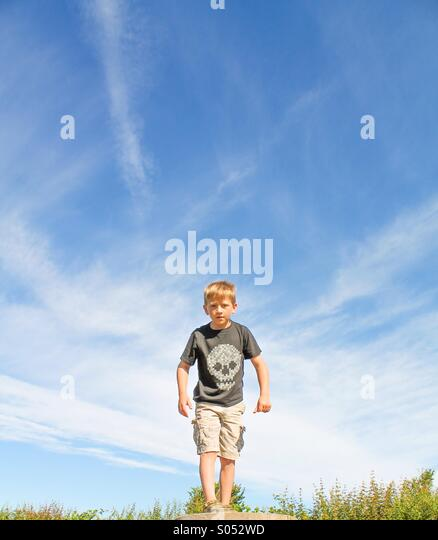 Intimidating youth - Stock Image