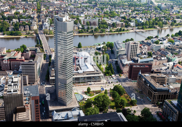 Europe, Germany, Hesse, Frankfurt, View of European Central Bank - Stock Image