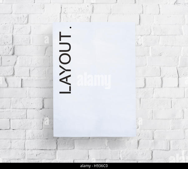 Layout Arrangement Design Creative Editing Concept - Stock Image