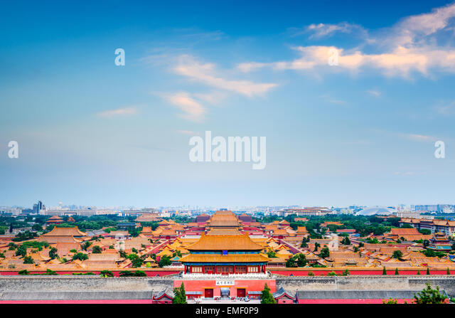 Beijing, China overlooking the Forbidden City. - Stock-Bilder