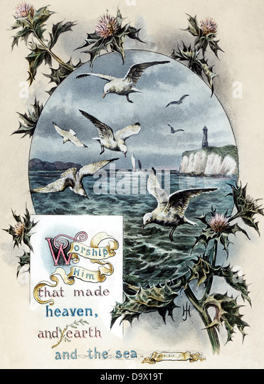 Illustrated Bible Text Victorian period - Stock Image