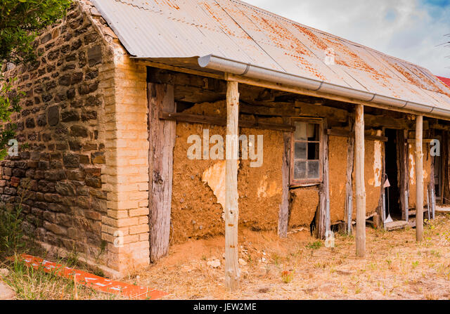 Old early settler house in the Barossa Valley, South Australia - Stock Image
