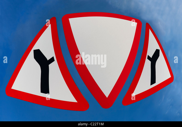 Digitally Altered Unusual Traffic Signs - Stock Image