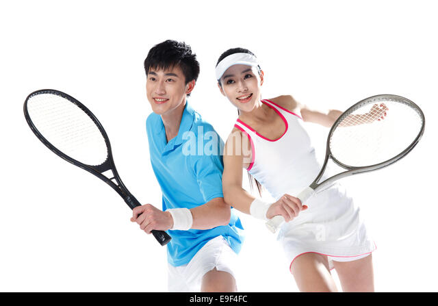 Tennis Players - Stock Image