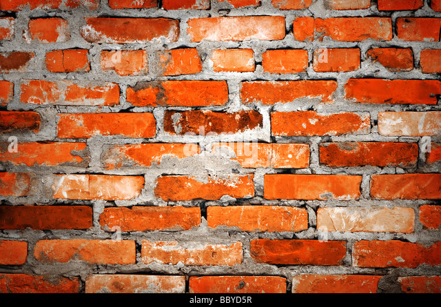 brick wall closeup - Stock Image