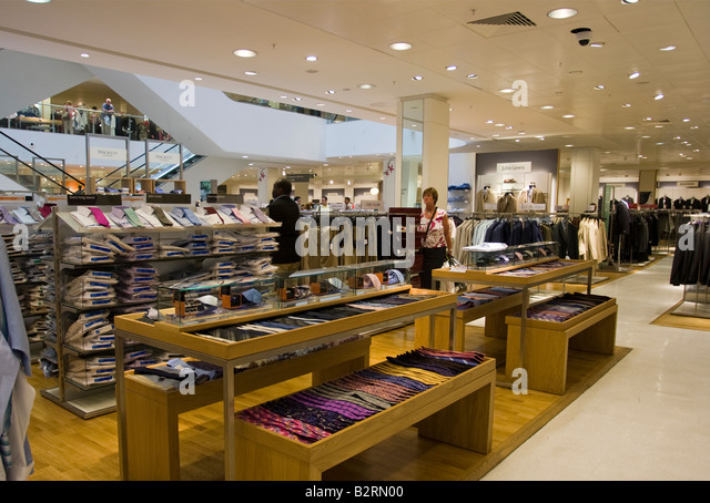 Shoppers inside john lewis stock photos shoppers inside for Home design john lewis