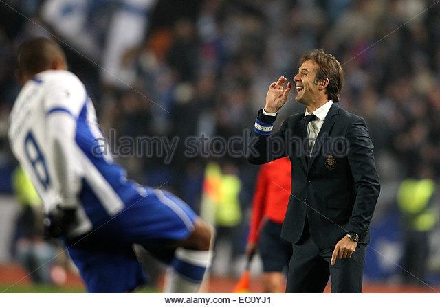 Coimbra, Portugal. 6th Dec, 2014. Porto's Spanish head coach Julen Lopetegui during Premier League 2014/15 match - Stock Image