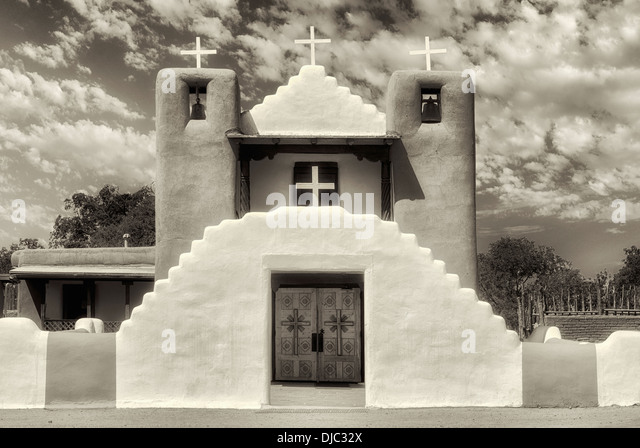 San Geronimo Church in Pueblo de Taos. Taos, New Mexico. - Stock-Bilder
