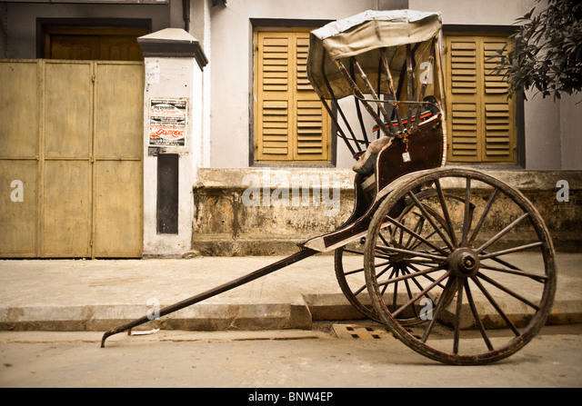 Rickshaw Kolkata (Calcutta), India - Stock Image