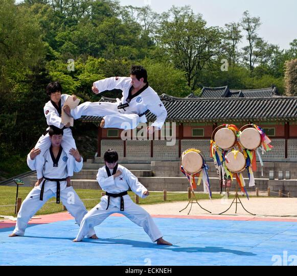 Seoul, Korean martial art Taekwondo - Stock Image