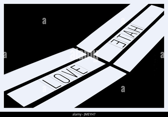 Love & Hate - Stock Image