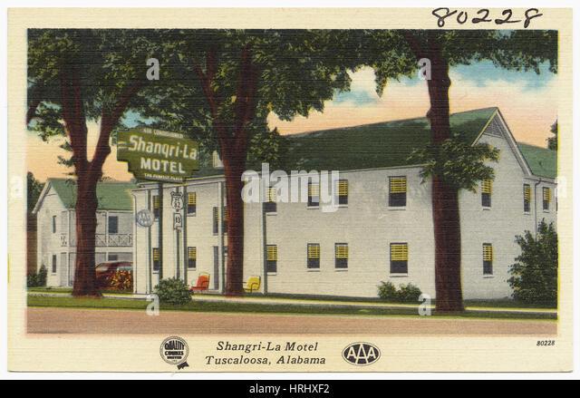 Shangri-La Motel, Tuscaloosa, Alabama - Stock Image