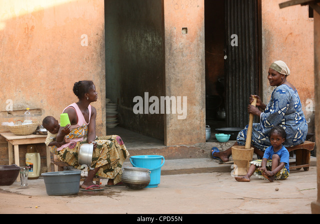 African kitchen, Lome, Togo, West Africa, Africa - Stock-Bilder