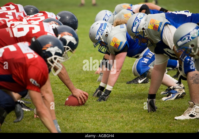 American football first league in geneva - Stock Image