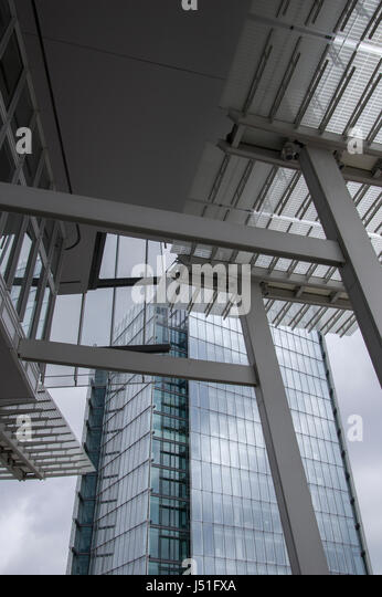 The façade of the Shard, the capital's tallest building, its viewing platform is a very popular tourist attraction - Stock Image