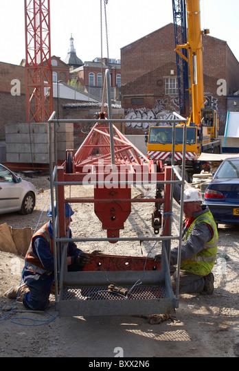 Construction site Kennington London UK - Stock Image