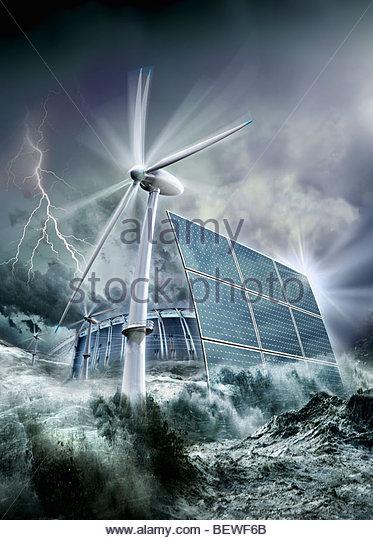 Alternative renewable energy - Stock Image