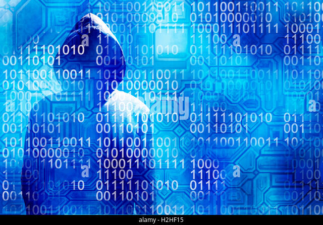 cybercrime and hacker concept - Stock Image