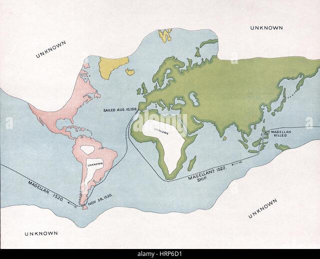Voyages of Magellan, 1519-22 - Stock Image