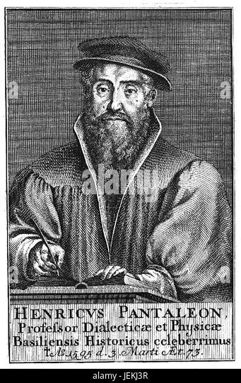 HEINRICH PANTALEON (1522-1595) Swiss humanist and physician - Stock-Bilder