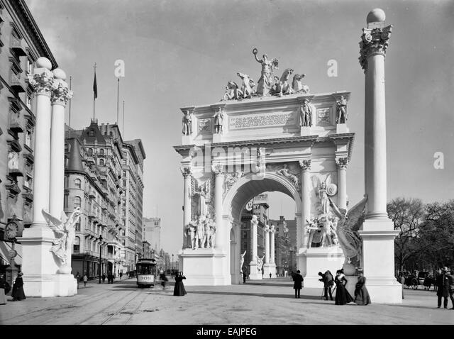 Dewey Arch, New York City, circa 1900 - Stock Image