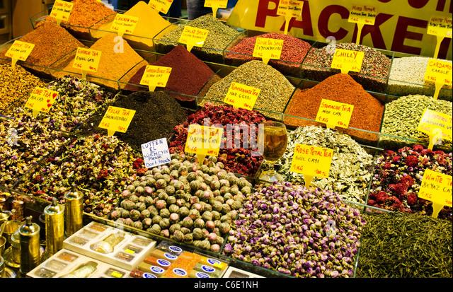Turkey, Istanbul, Spice market - Stock Image