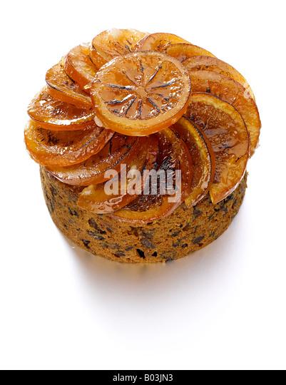 Glace Fruit Topped Cake