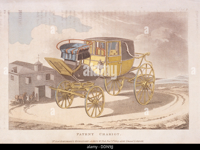 Patent chariot, 1809. Artist: Anon - Stock Image